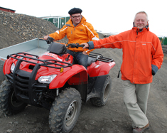 Svend Funder and his colleague Kurt Kjær in Greenland