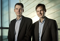 Professor Hans Bräuner-Osborne (left) and Professor Peter Norman Sørensen Photo: Mikal Schlosser/University of Copenhagen