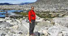 Tomas Næraa in Greenland. Photo: Anders Schersten