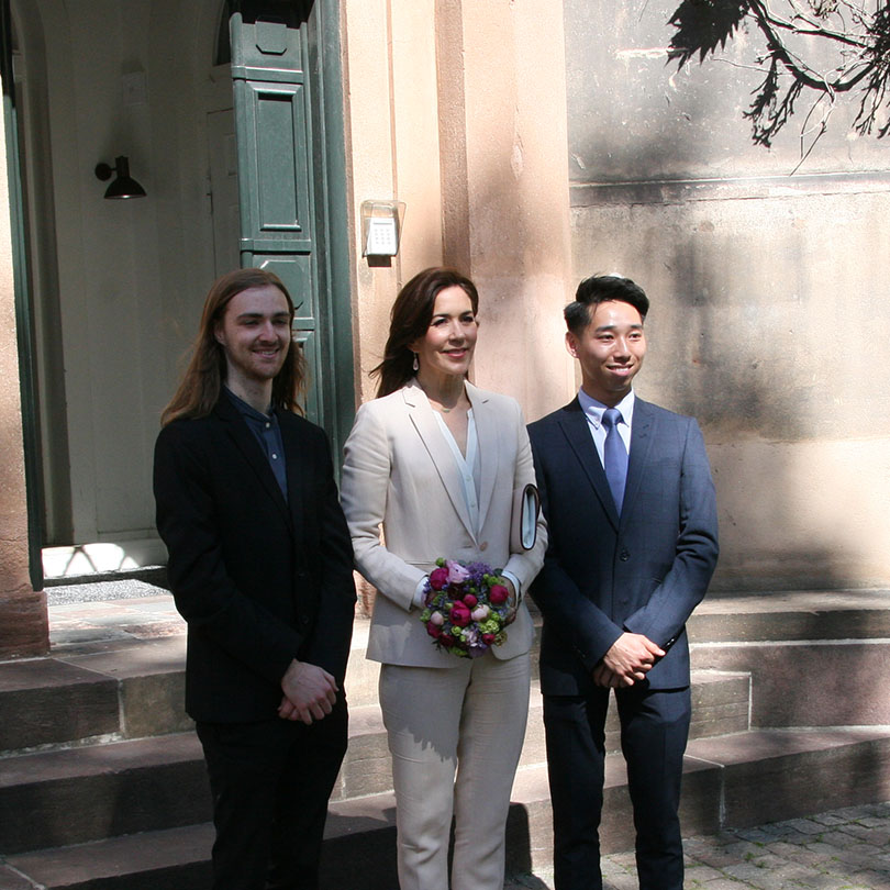 Crown Princess Mary awards two Australian exchange students
