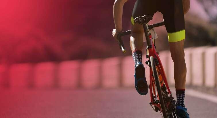 Foto af en cyklist